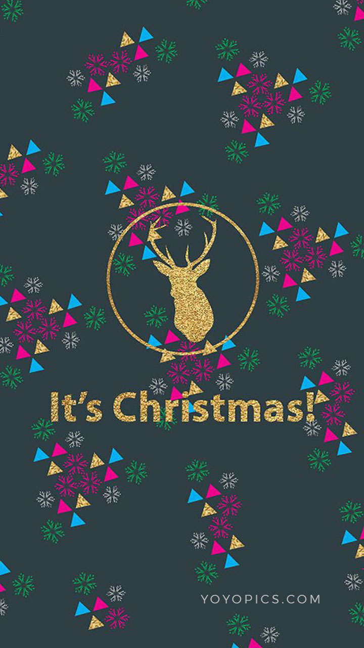 Reindeer Colorful Christmas Wishes Story Instagram and Snapchat